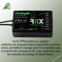 Récepteur R8X Pro-Tronik 8 voies