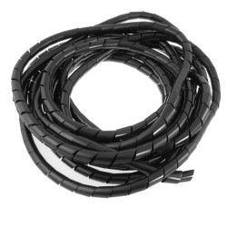 GAINE SPIRALEES Ø6MM NOIR (LE ML)