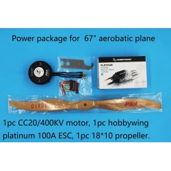 "Power package pour avion Pilot-RC 67"" (22-23%)"