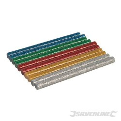 LOT DE 10 BATONNETS DE COLLE PAILLETEE 7,2 x 100 mm
