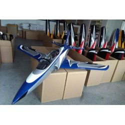 "SPORT JET ODYSSEY ""BLEU/ARGENT"" 2190MM ARF TOP RC MODEL"
