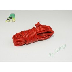 FIL SILICONE 16 AWG / 1.32mm² ROUGE 1M