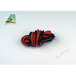 FIL SILICONE 12 AWG / 3.58mm² ROUGE+NOIR 2X1M
