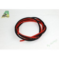 FIL SILICONE 8 AWG / 6.03mm² ROUGE+NOIR 2X1M